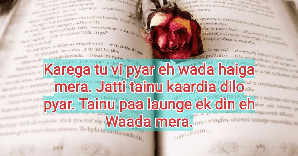 Punjabi Sad Shayari on Life-Top 22 Status in Punjabi