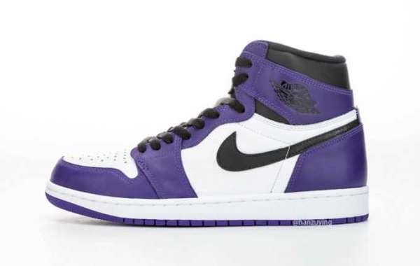Shop Air Jordan 1 High OG White Court Purple