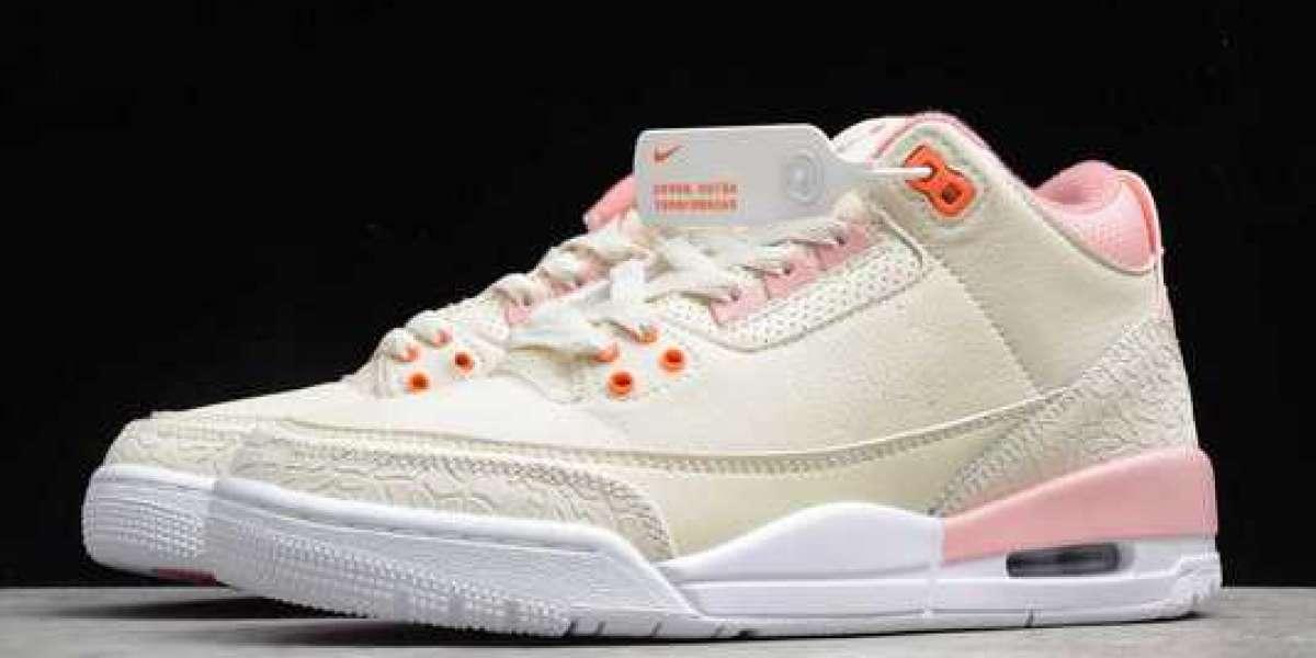 "Air Jordan 3 WMNS ""Rust Pink"" Sail/Rust Pink-White-Crimson 2021 New Released CK9246-116"