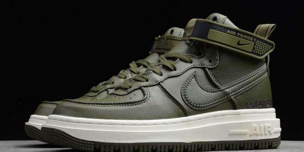 "Nike Air Force 1 Gore-Tex Boot ""Medium Olive"" Medium Olive/Seal Brown-Sail 2021 Newest CT2815-201 Hot Sale"