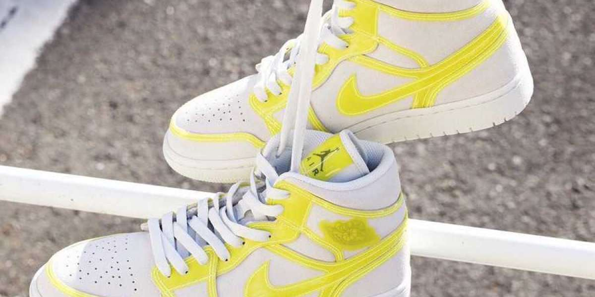 "This Spring DA5552-107 Air Jordan 1 Mid LX ""Opti Yellow"" Hot Sell"