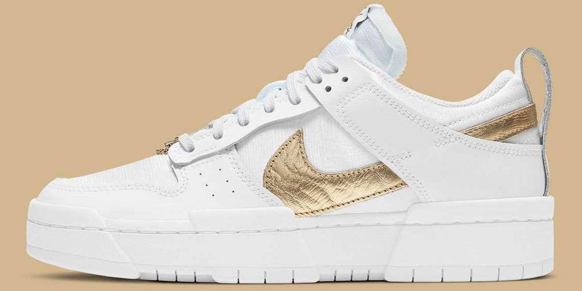 "Nike Wmns Dunk Low Disrupt ""Metallic Gold"" 2021 New Arrival DD9676-100"