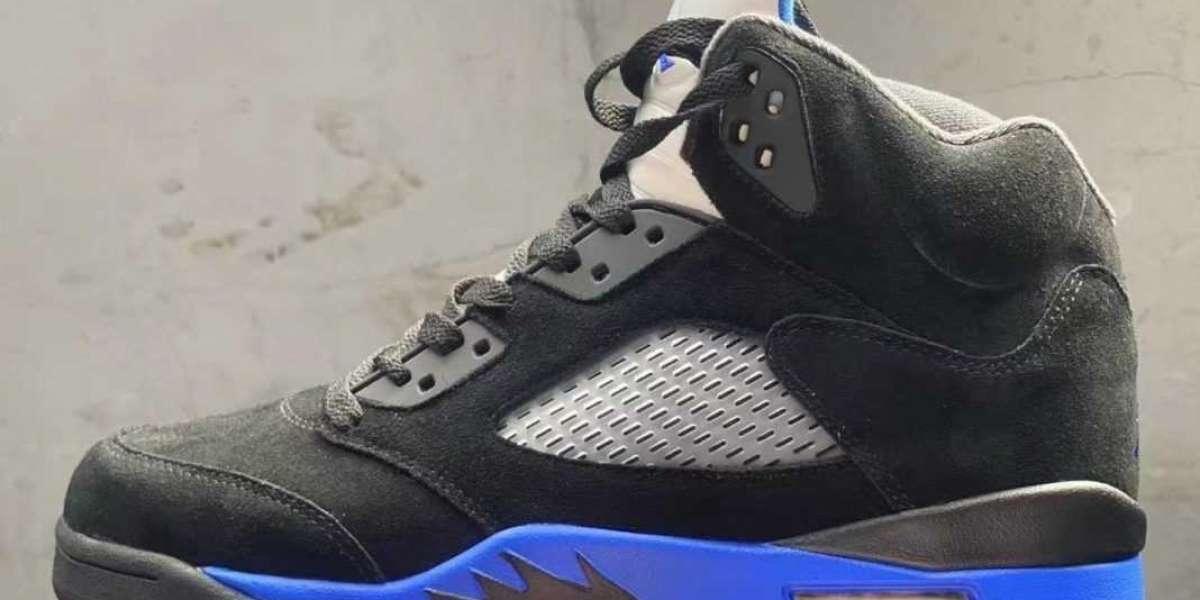 """New Air Jordan 5 """"Racer Blue"""" CT4838-004 360-degree display!"""